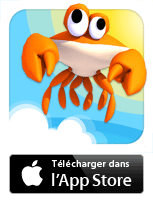 Jeu CrazyCrab sur iPhone/iPod touch/iPad - un jeu Oliver Pearl