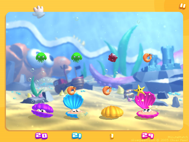 MinuteMatch - Shellfishes mini-game